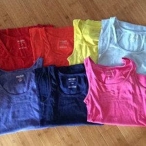 Lot of 7 Rainbow old Navy Perfect Tanks Tops